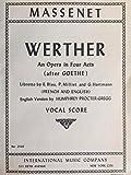 Werther: Vocal Score
