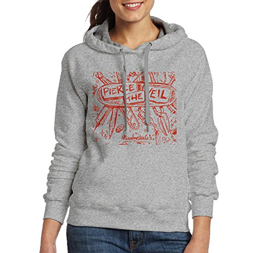 XJBD Women's Pierce The Veil Logo Sweatshirt Ash Size XXL