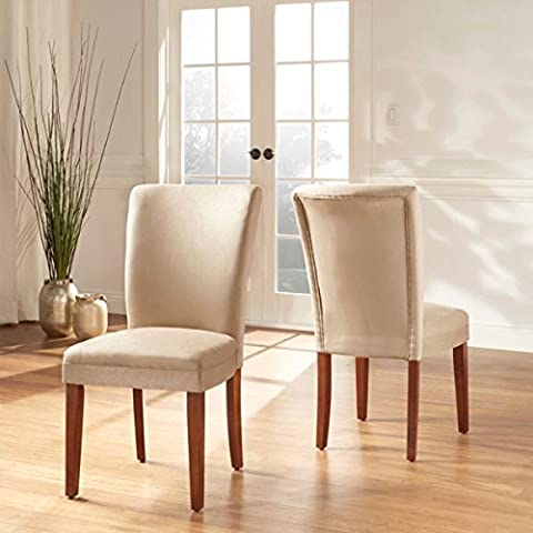 Light Brown Microfiber Asian Rubberwood Construction Industrial Coil Spring Supported Seat Deck For Durability Classic Upholstered Dining Chair (Set Of - Classic Spring Club Chair Frame