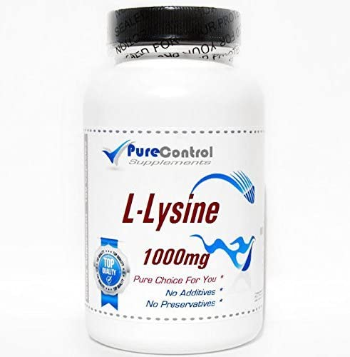 L-Lysine 1000mg 200 Capsules Pure by PureControl Supplements