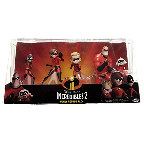 The Incredibles 2, 5 Piece Family Figure Set Comes with (Mr./Mrs. Incredible, Violet, Dash, Jack Jack) by The Incredibles 2 (Image #3)