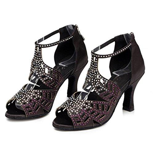 W007 CSM Shoes Shoes Latin Women's Glitter Fashion Black Dance Wedding Tango Salsa Doris Evening xpwqAf