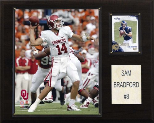 NCAA Football Sam Bradford Oklahoma Sooners Player Plaque (Sam Football)