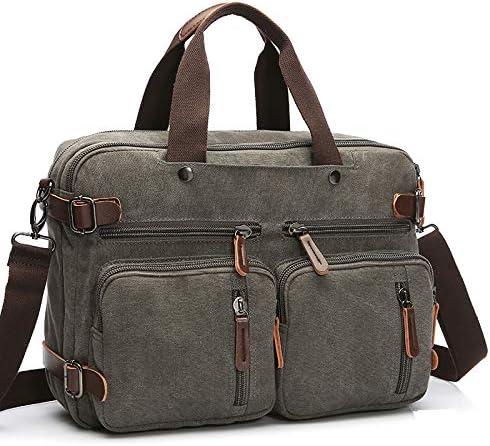 Laptop Backpack Messenger Bag Multifunction Briefcase 15.6 Inch Laptop Bag Work Bag School Bag Grey