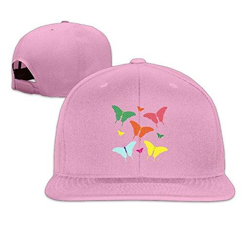 Colorful Beautiful Butterflies Clipart Adjustable Plain Hip Hop Sports Snapback Hats Flatbrim Cap