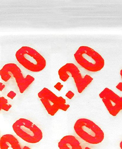 Bulk 12534 Original Mini Ziplock 2.5mil Plastic Bags 1.25 x 3//4 Reclosable Baggies Four Twenty 4:20