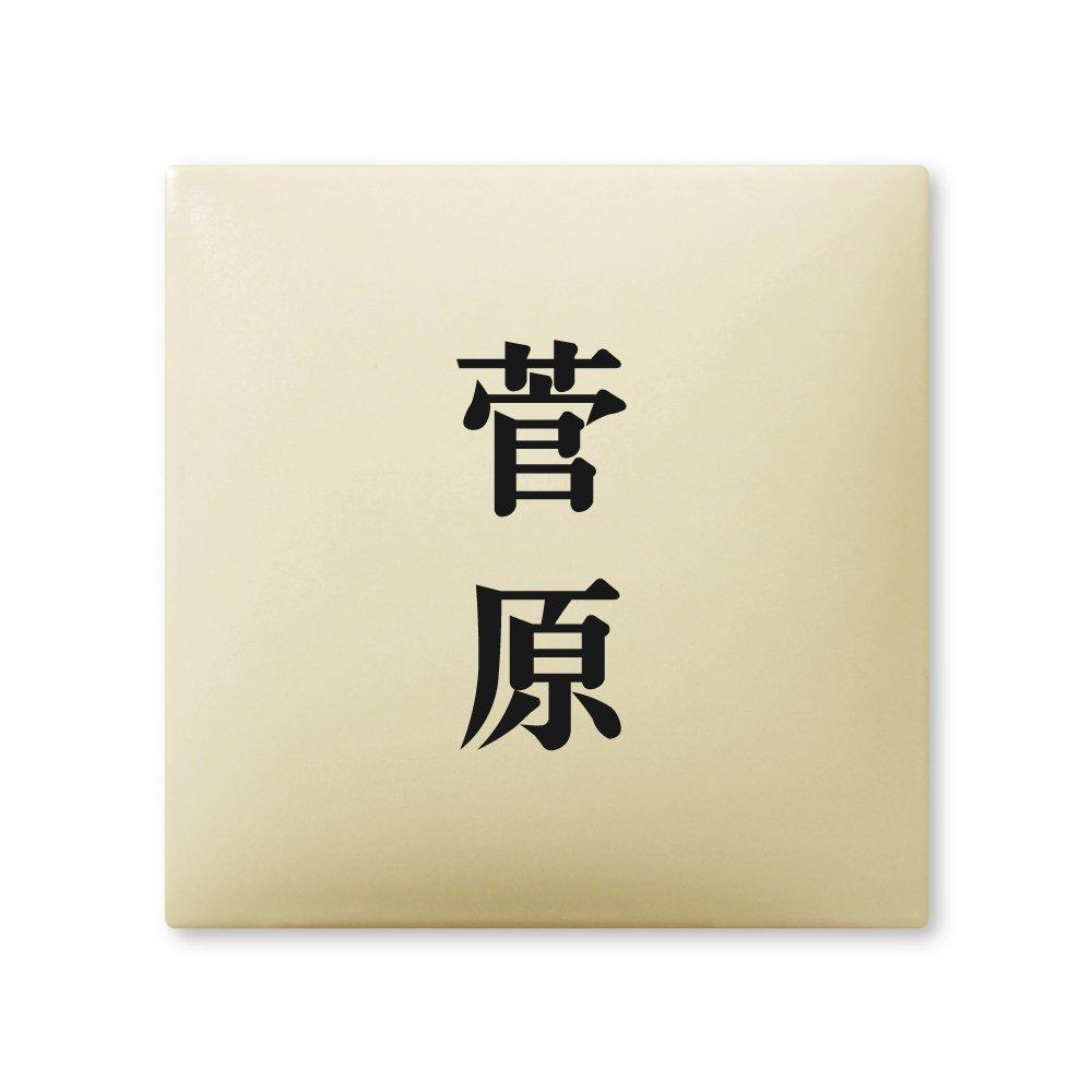 丸三タカギ 彫り込み済表札 【 菅原 】 完成品 アークタイル AR-1-2-2-菅原   B00RFBLJ48