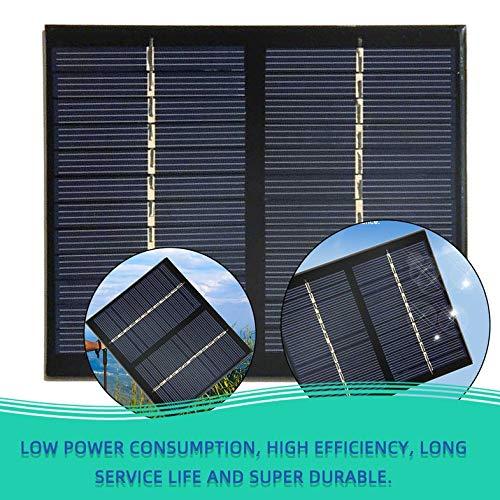 12V 1,5 W Universal Solarpanel Polykristallines Silizium DIY DIY Batterielademodul Kleine Solarzelle - Schwarz