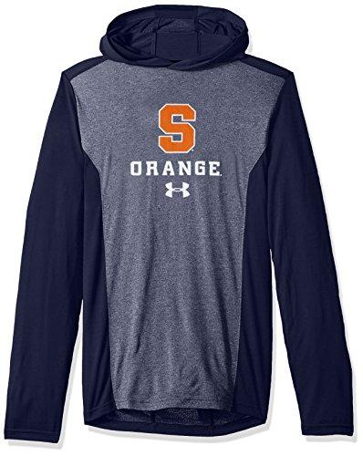Under Armour NCAA Syracuse Orange Mens NCAA Men's Triblend Hooded Long Sleeve Tee, XX-Large, Navy
