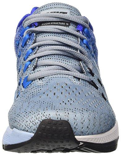 Nike Air Zoom Structure 19, Zapatillas de Running para Hombre Azul (Azul (blue grey/white-racer blue-blue glow))