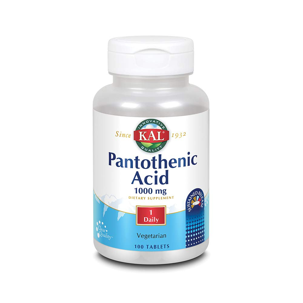 KAL 1000 Mg Pantothenic Acid Tablets, 100 Count