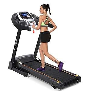 ANCHEER Treadmill APP Bluetooth Control Newest S9300 (Black.)