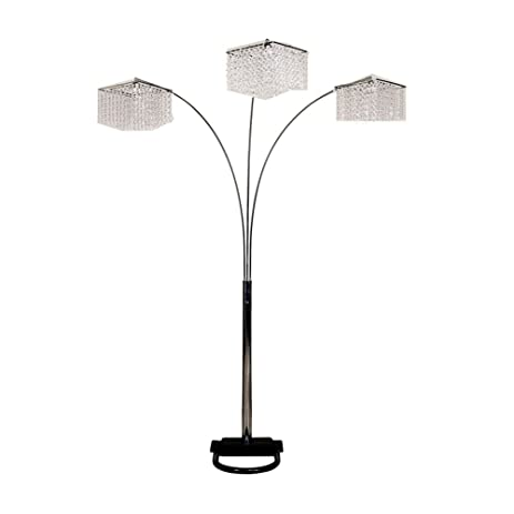 Ore international 6932 84 inch 3 light crystal inspirational arch ore international 6932 84 inch 3 light crystal inspirational arch floor lamp mozeypictures Choice Image