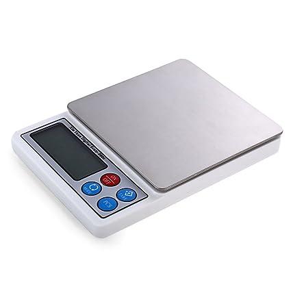 WOVELOT 3000g/0.01g 2.2 pulgadas Bascula electronica de alta calidad Bascula de joyas de