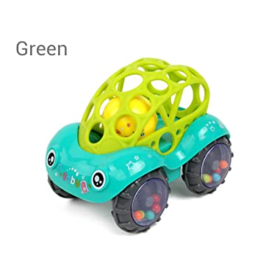 Blacgic Rattle & Roll Car 0-3 Years Toy boy and Girl Children's Toys Vehicles Toy Vehicles Toy car with Rattle: Home & Kitchen