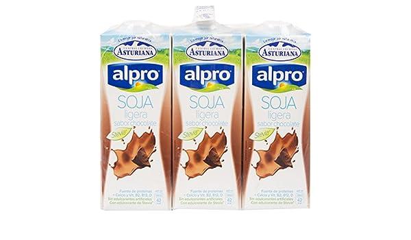 Alpro Central Lechera Asturiana Bebida de Soja Ligera Sabor ...