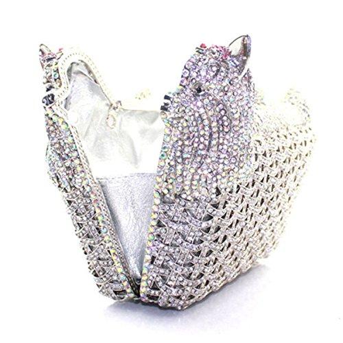 Mode Sac Soirée Banquet Sac Diamant En De Luxe De Femmes Pour à De Main Silver De wArwqn6