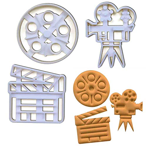 Set of 3 movie themed cookie cutters (Popcorn, Admit One Ticket and Soft Drink), 3 pcs, Ideal for carnival party - Hollywood Themed Drink Tickets