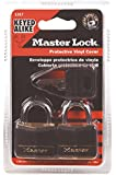Master Lock 131T Solid Brass Keyed Alike Padlock, Black Cover, 3/16-inch Shackle, 2-Pack
