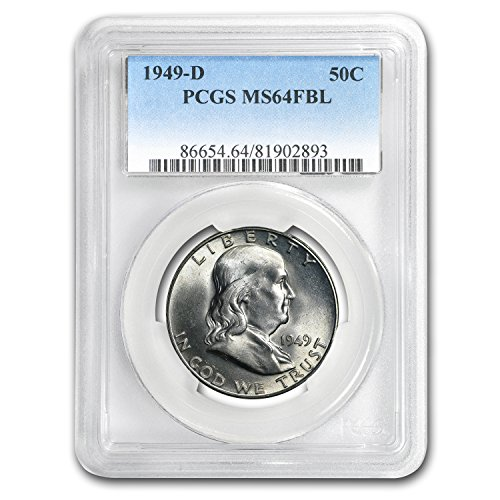 1949 D Franklin Half Dollar MS-64 PCGS (FBL) Half Dollar MS-64 PCGS