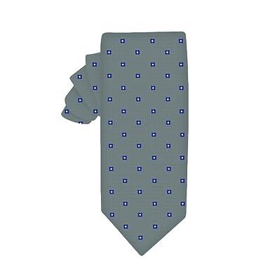 Corbata estrecha gris con flores azules | 5 años de garantía ...