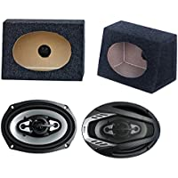 2) NEW BOSS NX694 6x9 800W Car Audio Speakers + 2) 6x9 Speaker Box Enclosures