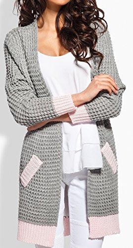 2 Femme Modell Lemoniade Hellgrau Gilet Rosa q0twnZwx