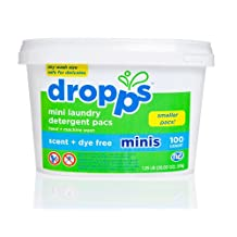 Dropps Mini Laundry Detergent Pacs, 100 Count