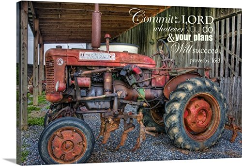 Bob Rouse Premium Thick-Wrap Canvas Wall Art Print entitled Commit to the Lord