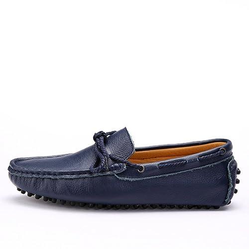 f83129e6c7 Otoño Zapatos De Guisantes para Hombres Zapatos Casuales Zapatos De Cuero  para Hombres  Amazon.es  Zapatos y complementos