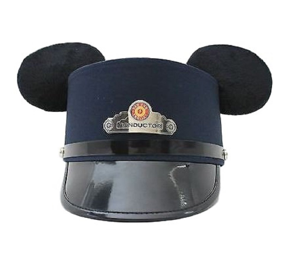Disney California Adventure Mickey Mouse Red Car Trolley Conductor Ear Hat