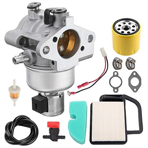 20 853 33-S Carburetor+20 083 02-S Air Filter + oil Filter Overhaul Kit Replacement for Kohler Courage SV470 SV530 SV540 SV541 SV590 SV591 SV600 SV601 SV610 SV620 15HP 17HP 18HP 19HP Engine Husqvarna