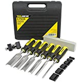 Chisel Set for Woodworking, Wood Chisels come with Honing Guide and Sharpening Stone for Optimal Blade Care and Professional Finish, Secure Hand Grip Provides a Solid Striking Surface