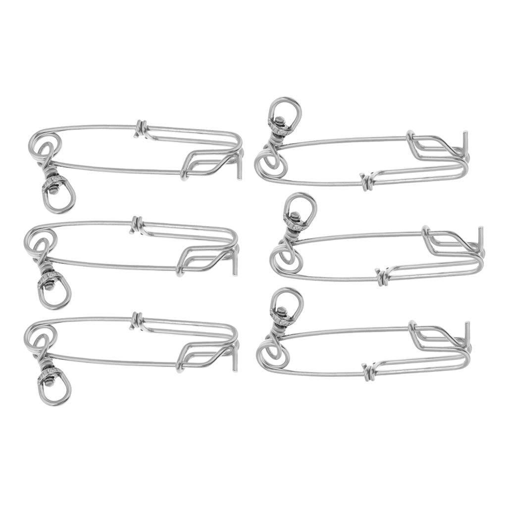 100 Pieces Stainless Steel Fishing Snap Longline Sea Fishing Clip Connectors