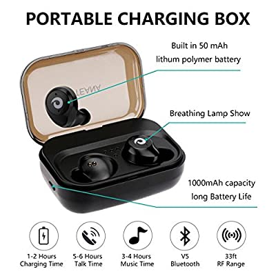 Wireless Earbuds,Touch Control Dual Wireless Earbuds & IPX7 waterproof with Charging Box Sweatproof Bluetooth Earphones for iPhone iPad, Smartphones,Laptop,3 Hours Working Time.
