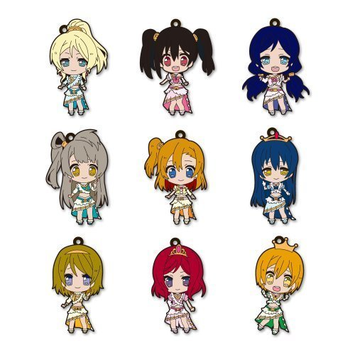 All 10 species set that includes Love Live! Trading Rubber Strap Vol.2 secret