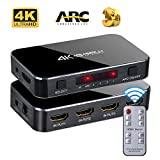 HDMI Switch 4x1 4K 60hz HD ARC Audio Optical TOSLINK HDCP 2.2 HDMI