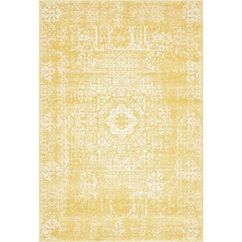 Unique Loom Tradition Collection Classic Southwestern Yellow Area Rug (4' x 6')