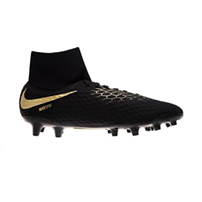 98b8f59bd9fe Nike Jr Hypervenom Phantom 3 Academy Dynamic Fit FG (Black Metallic Vivid  Gold)
