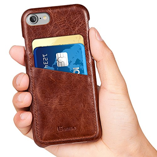 iPhone 7 Case, Benuo [Card Slot Vintage Series] [Genuine Leather] Soft Leather...