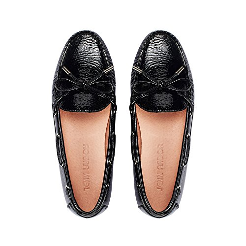 JENN ARDOR Suede Penny Loafers for Women: Vegan Leather Bow Knot Slip-On Driving Moccasins`