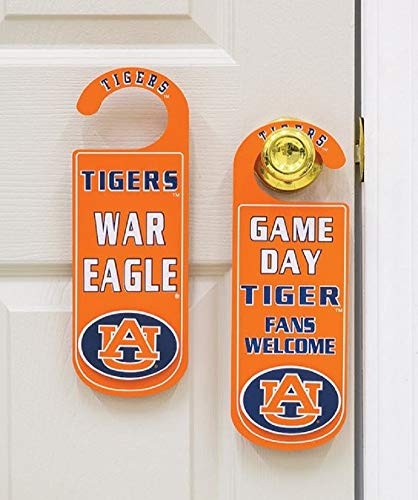 Door Knob Note Hanger Auburn University Game Day Tiger Fans School ()