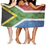 TPXYJOF Superfine Fiber Printing Bath Towel South Africa Flag Vintage Soft Shower Towel 80X130cm For Bath Swimming Pool Yoga Pilates Picnic Blanket Towels