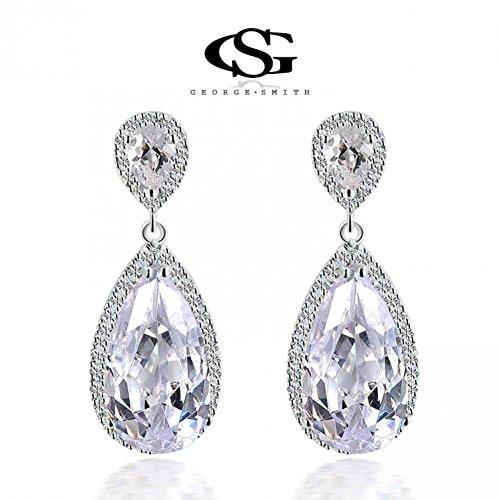 USMagic Christmas Gift Classic Genuine Tears Crystal Platinum Drop Earrinhot Sale For Women Party Wedding102075