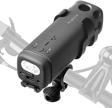 Altavoz Bluetooth Portátil, Siroflo Altavoz de la Bici con Estéreo ...