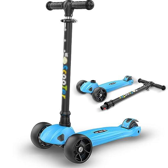 Patinetes de tres ruedas Kick Scooter para niños, empuñadura ...