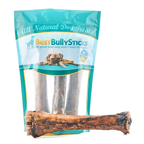 Beef Shin Bone (Jumbo Smoked Shin Bones by Best Bully Sticks (3 Pack) Free-Range Beef Dog Chews)