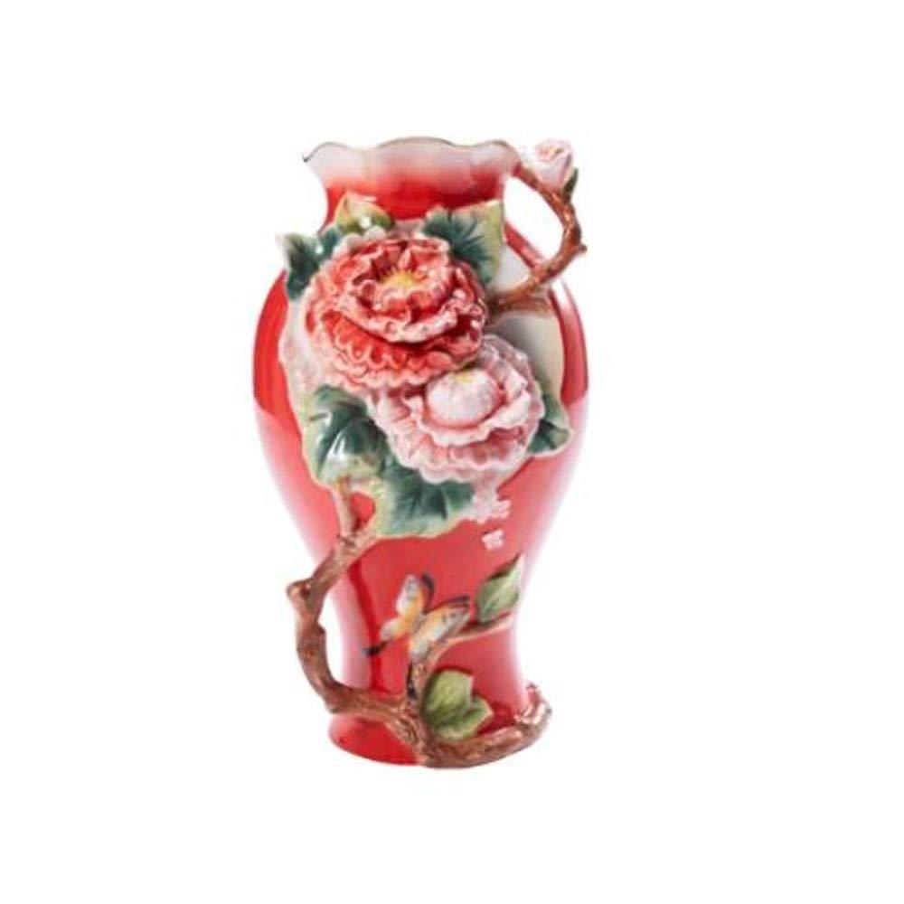 セラミック花瓶用花緑植物結婚式植木鉢装飾ホームオフィスデスク花瓶花バスケットフロア花瓶ヨーロッパスタイル B07RM2TBMR