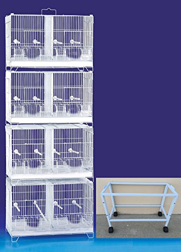 COMBO: Stack and Lock Double Breeder Cage Bird Breeding Cage With Removable Dividers And Breeder Doors 4 Of 23.5
