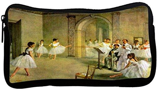 Rikki Knight Edgar Degas Art Hall of the Opera Ballet Design Neoprene Pencil Case by Rikki Knight